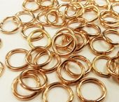 Wholesale Quantity Gold Plated 6.8mm Jump Rings (Save 20%) - 500* jump rings